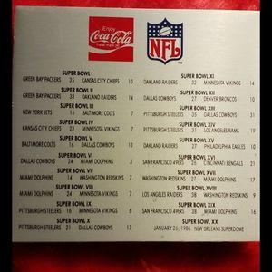 Coca Cola SuperBowl Pins